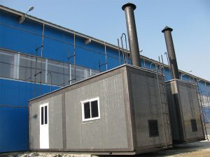 بویلر خانه پورتابل ظرفیت2.5 تن پروژه تونل تهران -تبریز